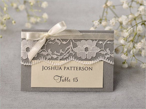 custom vintage tented place name card