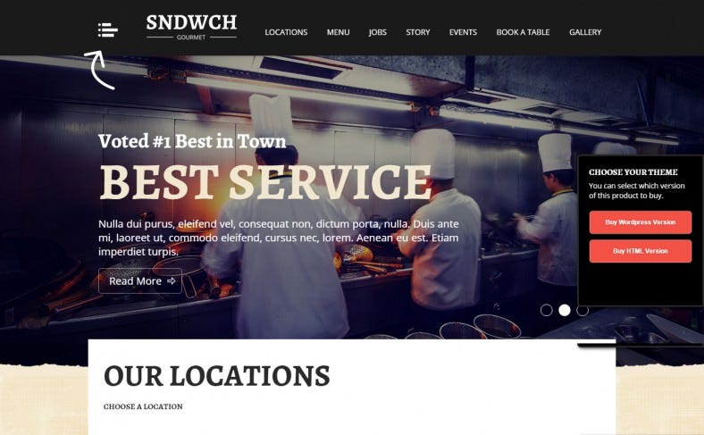 Customize Wp Template for Restaurant