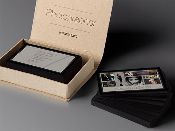 customized photographer business photo card