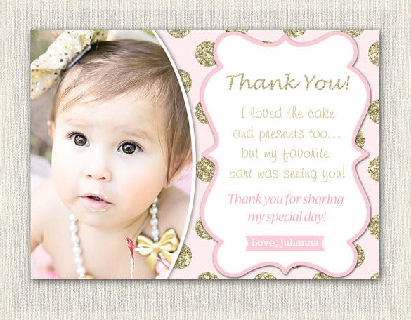 cute baby shower thank you card