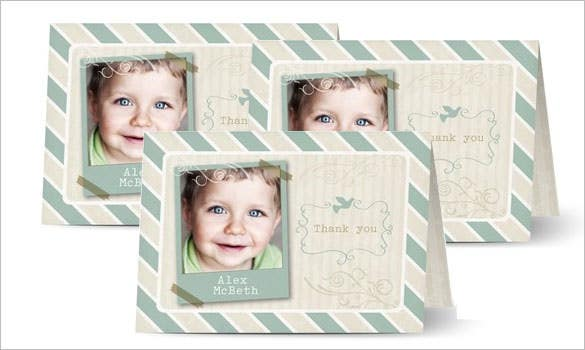 cute baby thank you card template
