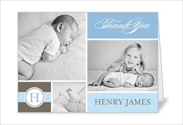 19  Baby Thank You Cards - Free Printable PSD, EPS, Indesign ...