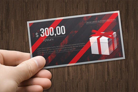 devil red gift card example