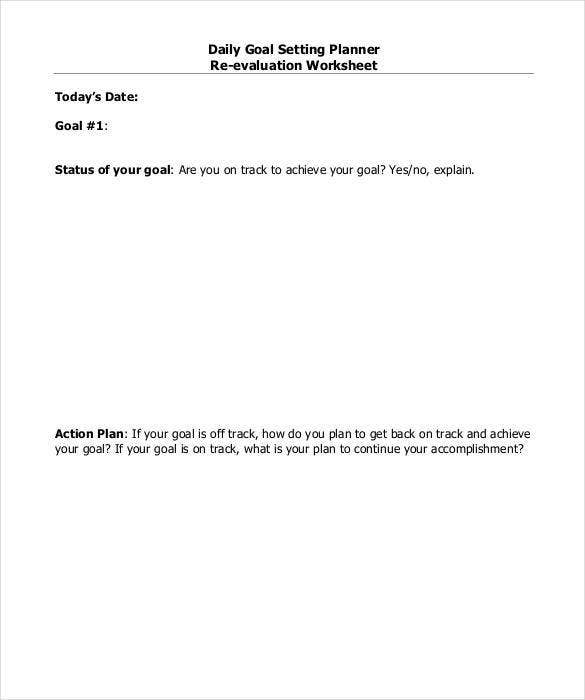 daily planner re evaluation worksheet1