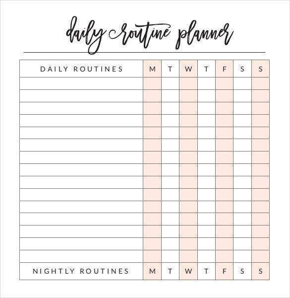 graphic relating to Daily Planner Printable identified as 31+ Day by day Planner Templates - PDF, Document Totally free High quality
