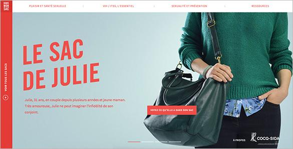 dans mon sac flat design website