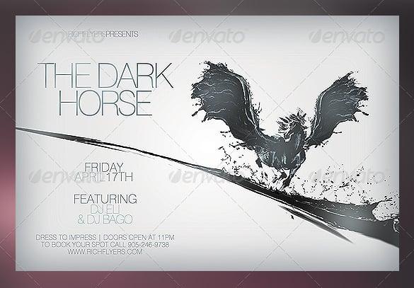 dark horse flyer template
