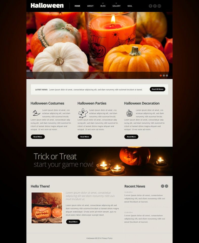 dark website template for halloween 788x961