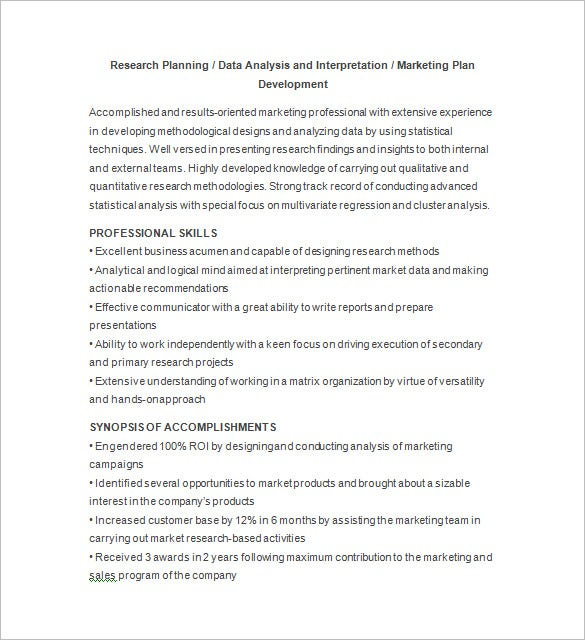Data Analyst Resume Free Download  Data Analysis Resume
