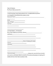 death notice letter template