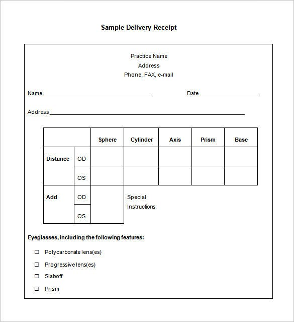 Receipt Template – 90+ Free Printable Word, Excel, PDF Format ...