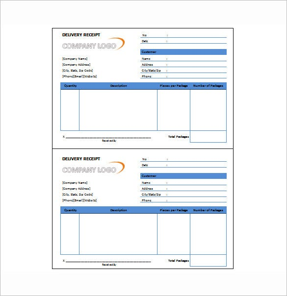 Delivery Receipt Template 10 Free Sample Example Format – Received Receipt Format