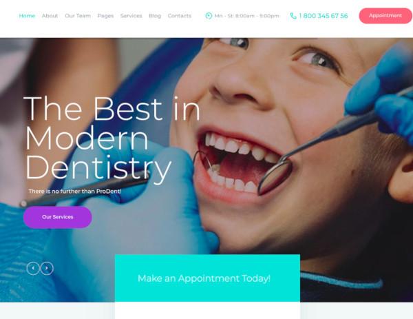 dental clinic healthcare wordpress theme