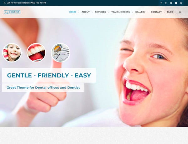 dental medical one page html template