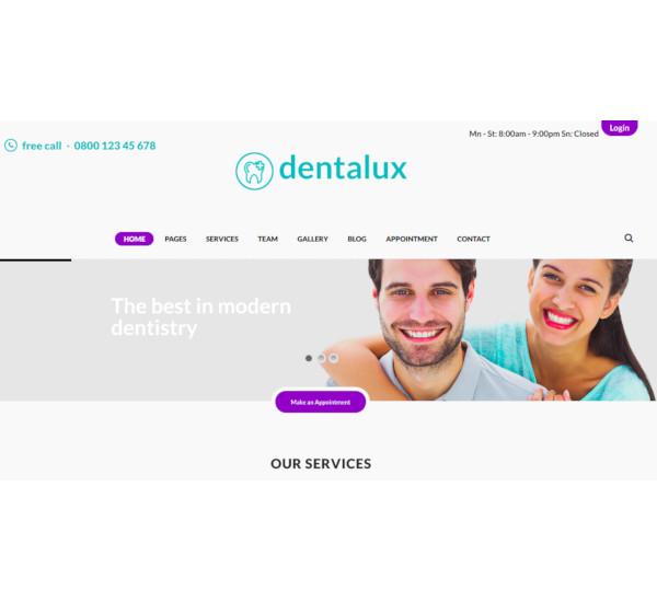 dentist medical healthcare wordpress theme