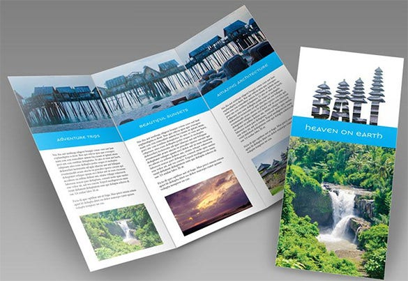design a trifold brochure in indesign and photoshop tutorial