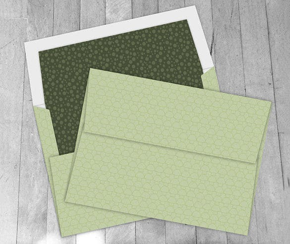 A Envelope Template   Free Printable Sample Example Format