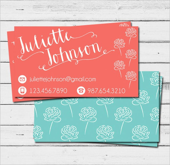Digital Printable Contact Card Template  Contact Card Template For Word