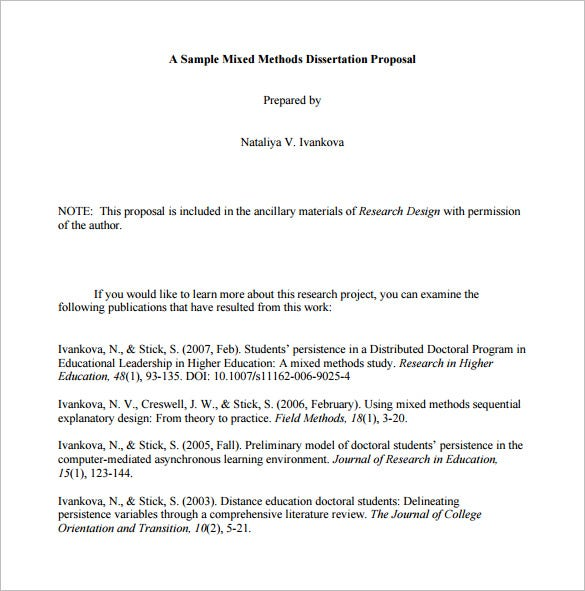 Research proposal format example pdf