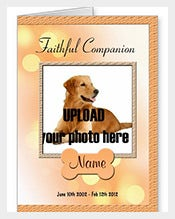 Dog-Memorial-Announcement-Card