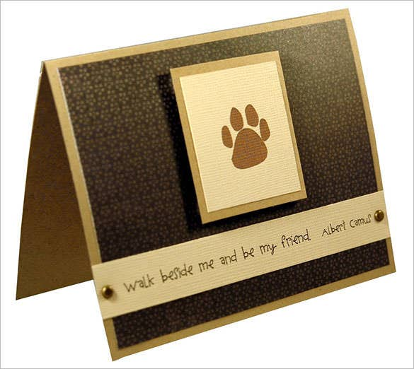 dog pet sympathy thank youcard