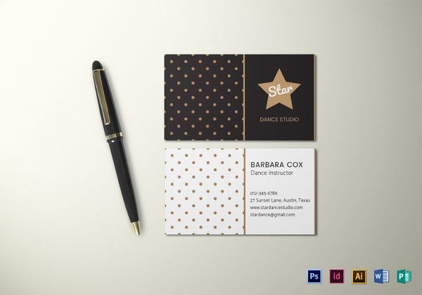 dotted business card template1