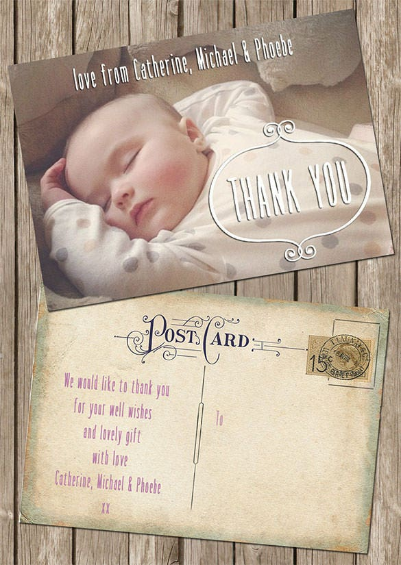 19 Baby Thank You Cards Free Printable Psd Eps Indesign Format