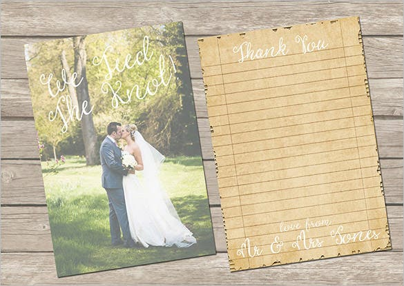double sided vintage photography thank you card template