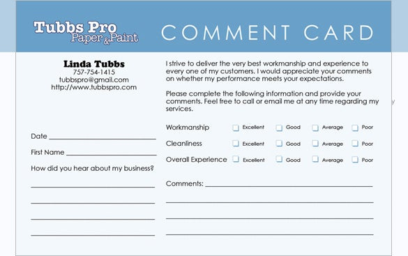 Templates For Comment Cards Video Search Engine At