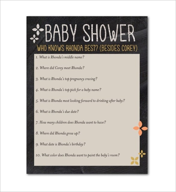 download marigold baby shower card template