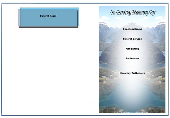 download obituary program powerpoint template