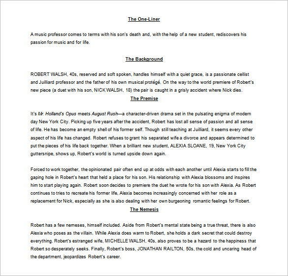 download screenplay script outline template ms word