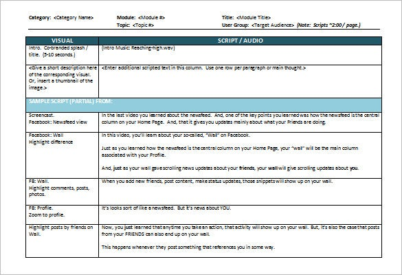 download storyboard template for ms word sample