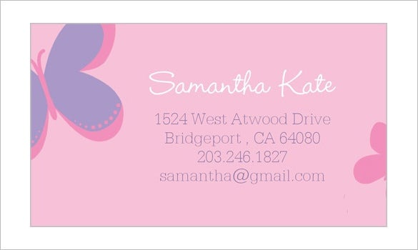 download sweet butterfly calling card