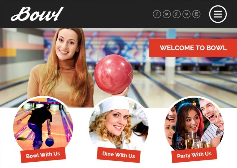 Drag & Drop Page Builder WP Theme for Bowling Centre