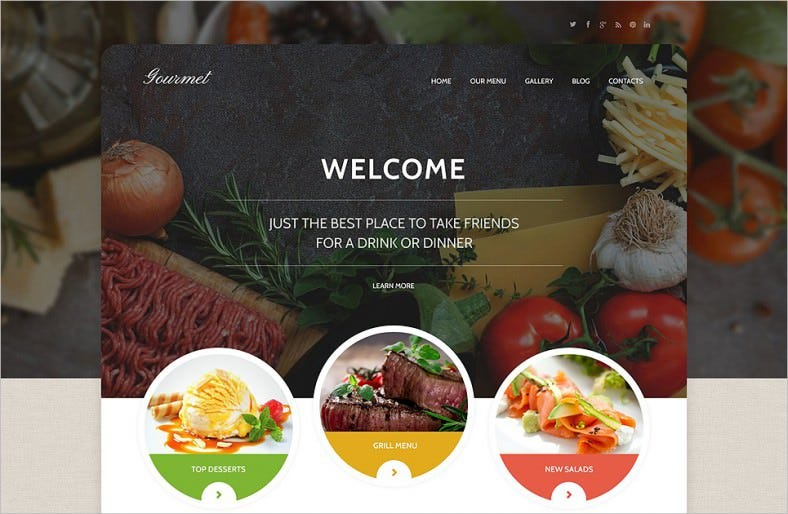 Drag & Drop Plugin Integrated Restaurant Wp Templates