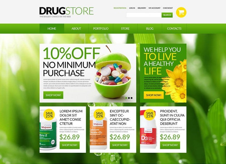 Shopping Cart Website Templates Themes Free Premium Free - Responsive shopping cart template