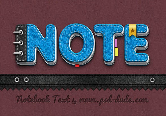 dynamic 3d notebook paper text tutorial