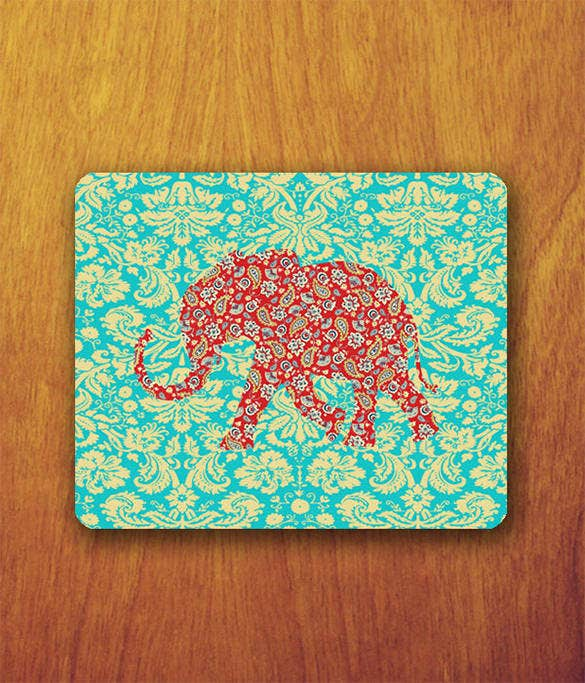 dynamic elephant illustrator patern