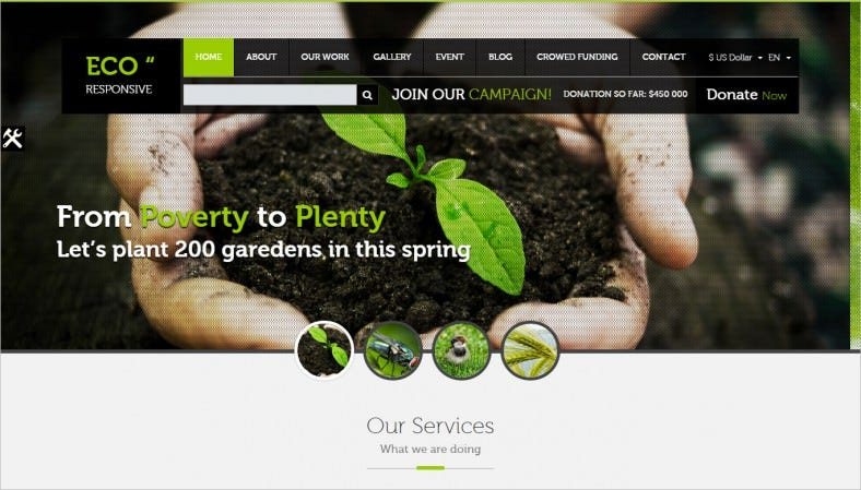 14 Environmental Website Templates Amp Themes Free