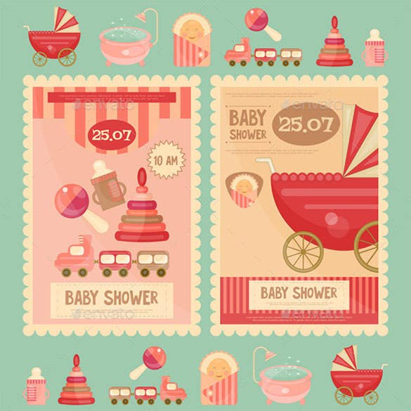 eps design baby shower card template