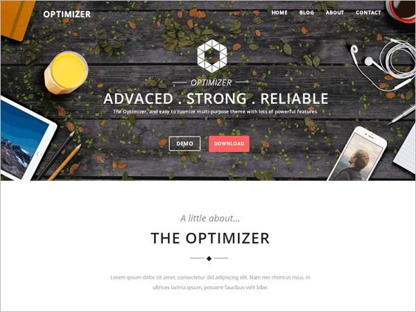 easy customizable multi purpose free theme