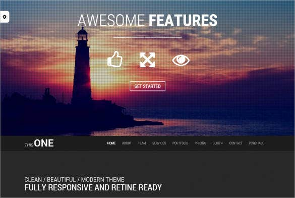 easy customizable one page bootstrap website template – 16