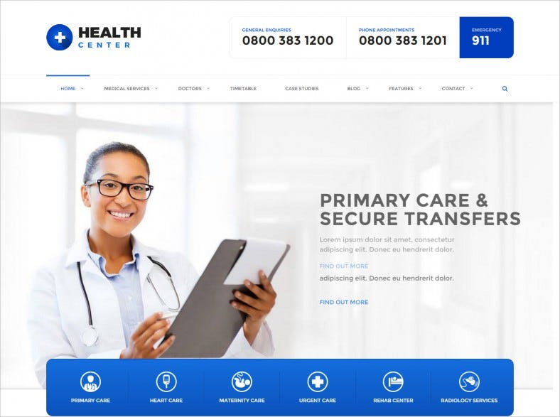 Easy Customize Medical WordPress Theme