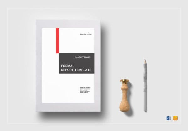 Easy to Print Formal Report Template