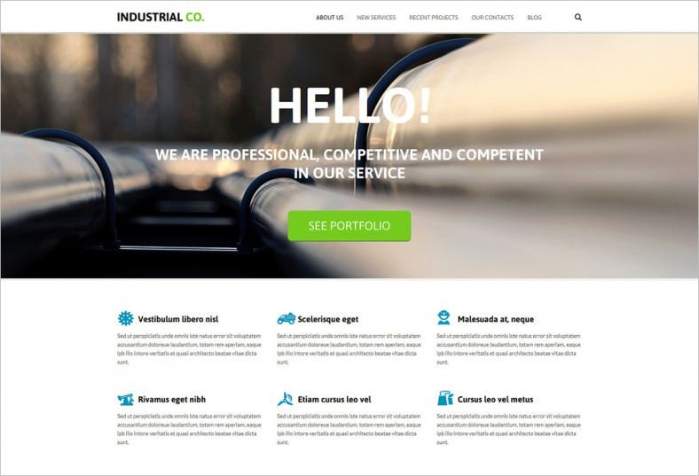 Ecofriendly Industrial Services Joomla Template
