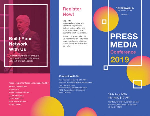 19 conference brochure templates free psd eps ai indesign