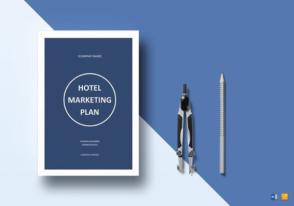 editable hotel marketing plan template