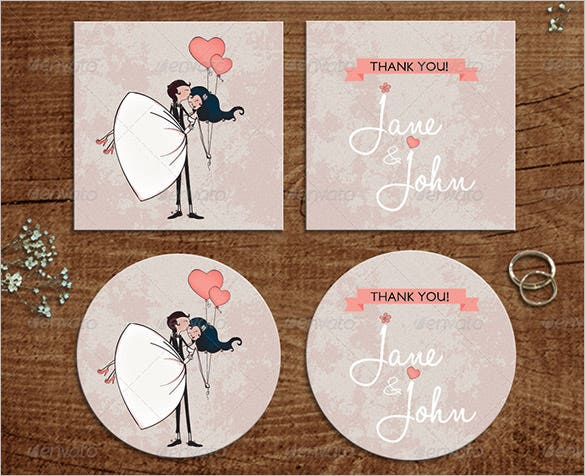 editable indesign thank you card template