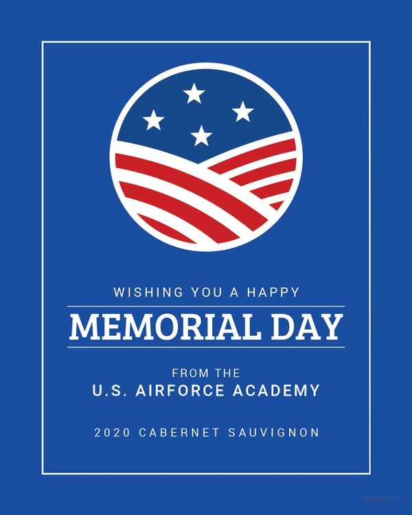 editable memorial day wine label template